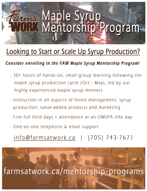 FAW Maple Syrup Mentorship